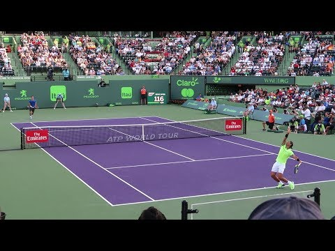Rafael Nadal v. Philip Kholshreiber (Court Level View) 60FPS HD Miami Open 2017 R3