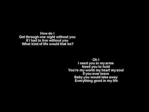 How Do I Live (HD) + Trisha Yearwood +  Lyrics