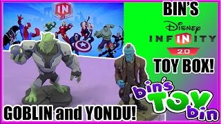 Bin's Disney Infinity 2.0 Toy Box + Green Goblin & Yondu Unboxing! By Bin's Toy Bin