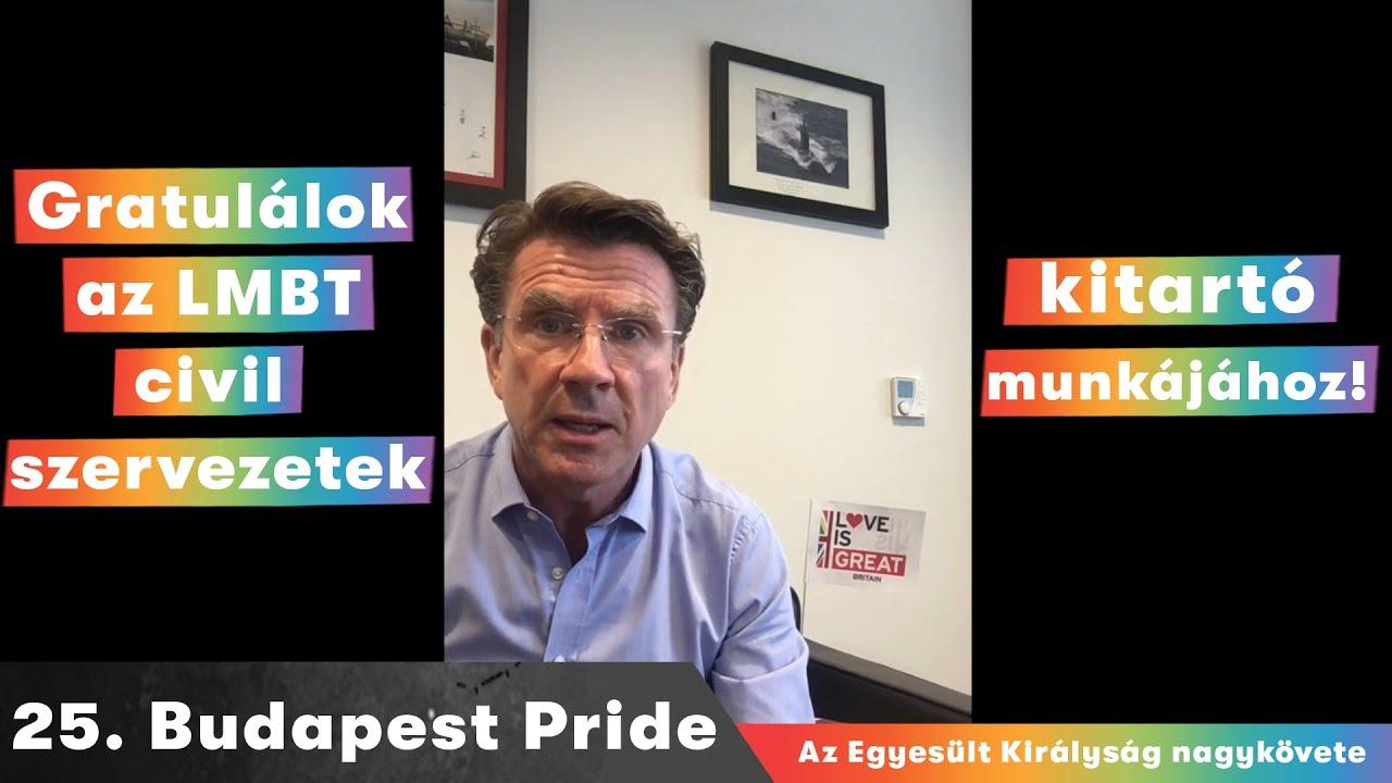 Az Egyesült Királyság nagykövetének MAGYAR videója a 25. Budapest Pride-ra 2020 #budapestpride25
