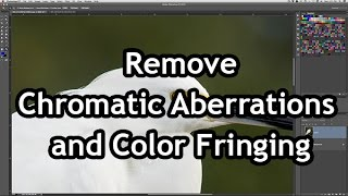 Remove chromatic aberrations and color fringing thumbnail