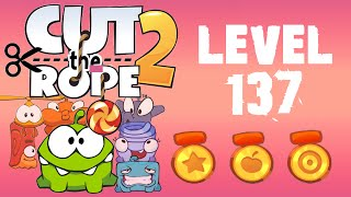 Cut the Rope 2 - Level 137 (3 stars, 46 fruits, 1 star + cut 1 rope)