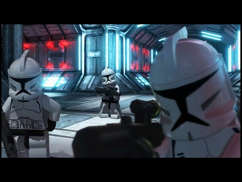 CLONES Defend Ship From DROID ARMY! - Lego Star Wars III: The Clone Wars