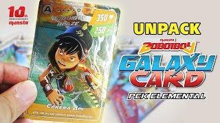 Unpack BoBoiBoy Galaxy Card Pek Elemental
