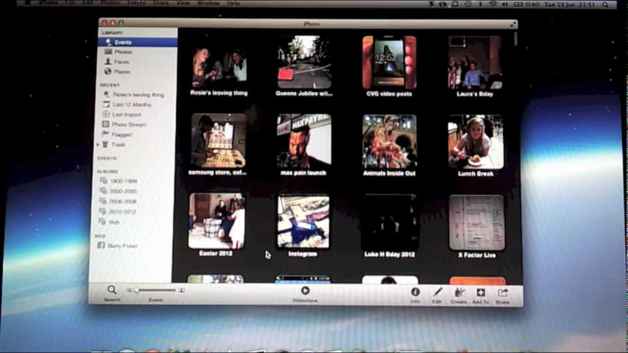 Open your iPhoto library in Aperture