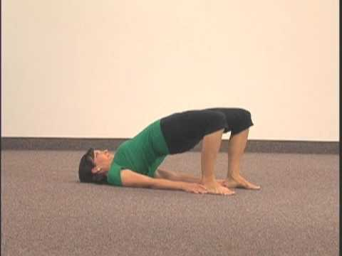"simple yoga pose chakra 2 asana 5 ""bridge""spiral up"