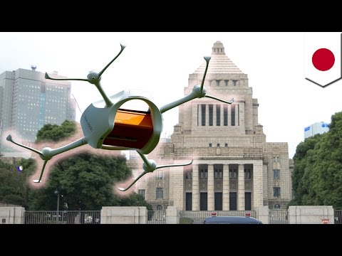 Japan restricts drones after drone carrying radioactive material found at PM's office - TomoNews