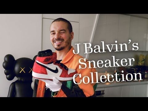 04d78c066a39 J Balvin's Sneaker Collection | Footwear News - YouTube