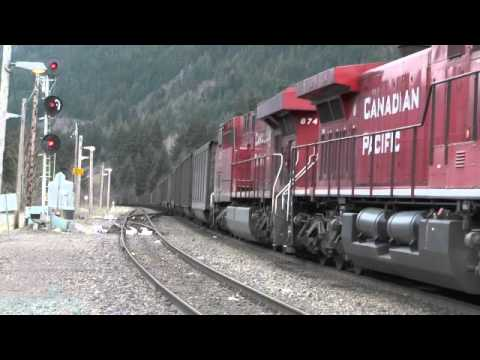 CP Rail -- CP8536East  Coal Empties through the Canyons
