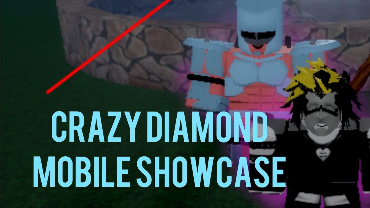 Jojo Blox Crazy Diamond Showcase Mobile Version Youtube Diamond is unbreakable comes this super action staue of josuke's stand, crazy diamond! jojo blox crazy diamond showcase mobile version