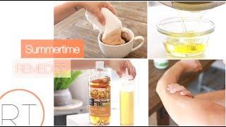 Easy & Natural Summer Remedies (for Sunburn, Chlorine Hair, Bug Bites)