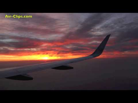 My most beautiful sunset wing video to date: Lufthansa A320 Brussels-Frankfurt [AirClips]