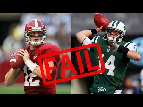 10 Alabama QBs That Were GREAT In College, But BUSTS In The NFL