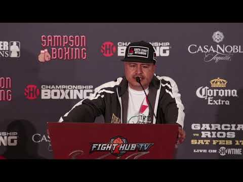 "Robert Garcia ""I love Brandon Rios, I don't want to see him get hurt"""