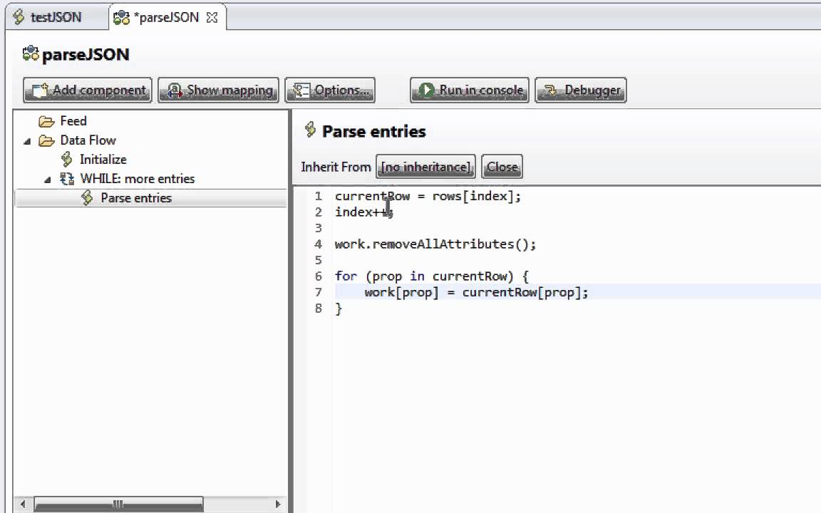 Parsing a JSON payload into Entries