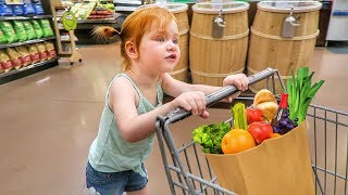 Adley in charge of Grocery Shopping 😂