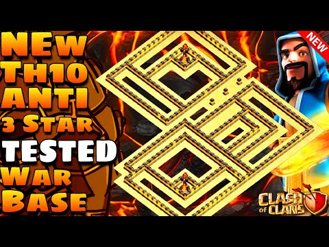 Clash Of Clans | TH10 Anti 3 Star War Base | Anti Queen Walk,Bowitch | With Tested Replays | Coc