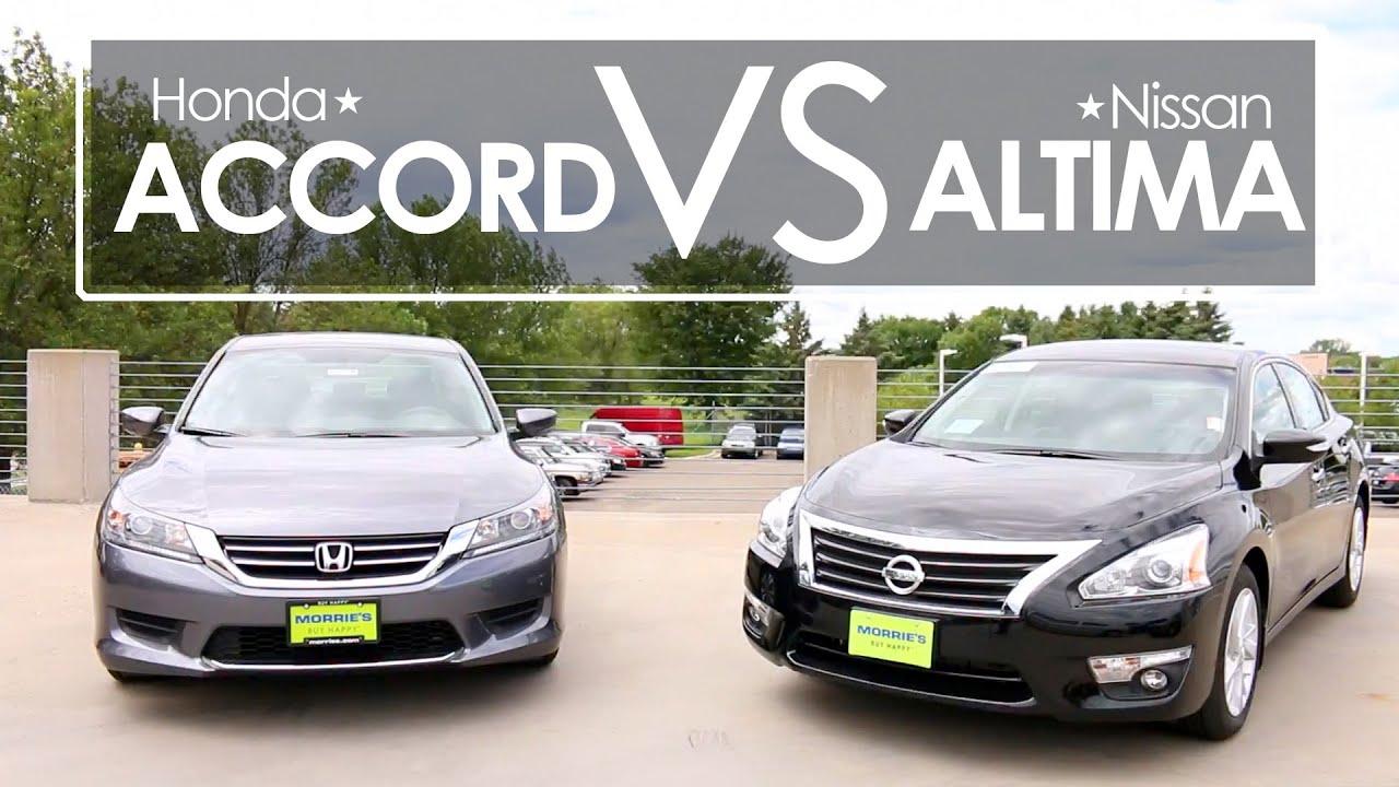 Nissan Altima vs Honda Accord Model parison