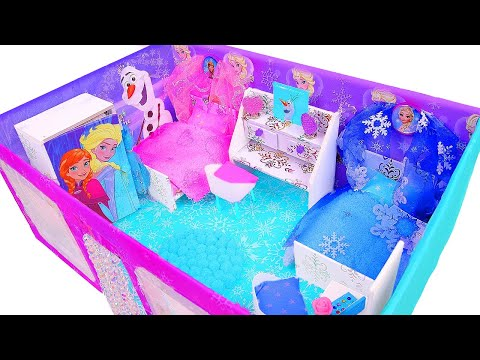 DIY Miniature Frozen Dollhouse in a Shoebox