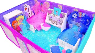 DIY Miniature Frozen Dollhouse in a Shoebox