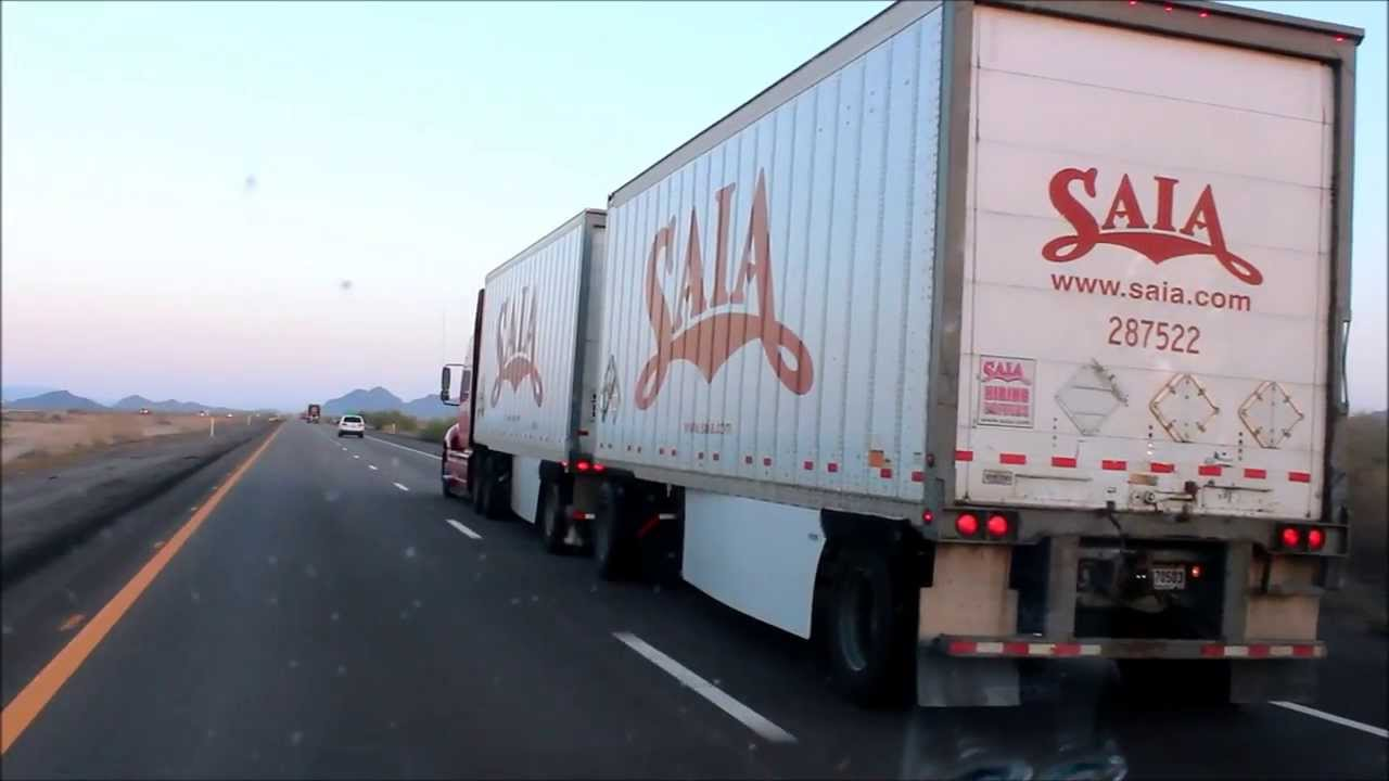 Saia LTL Freight International Truck Pulling Doubles  YouTube