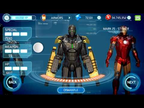 Iron man 3 unlocked all armours