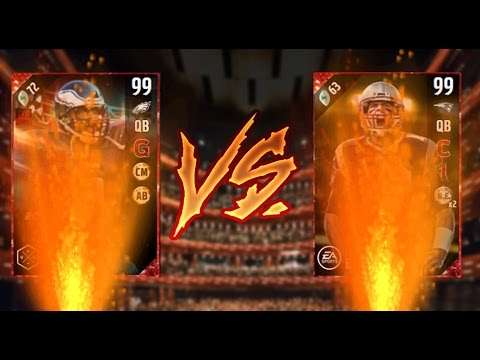 99 TOM BRADY VS 99 DONOVAN MCNABB!!!! | WHO