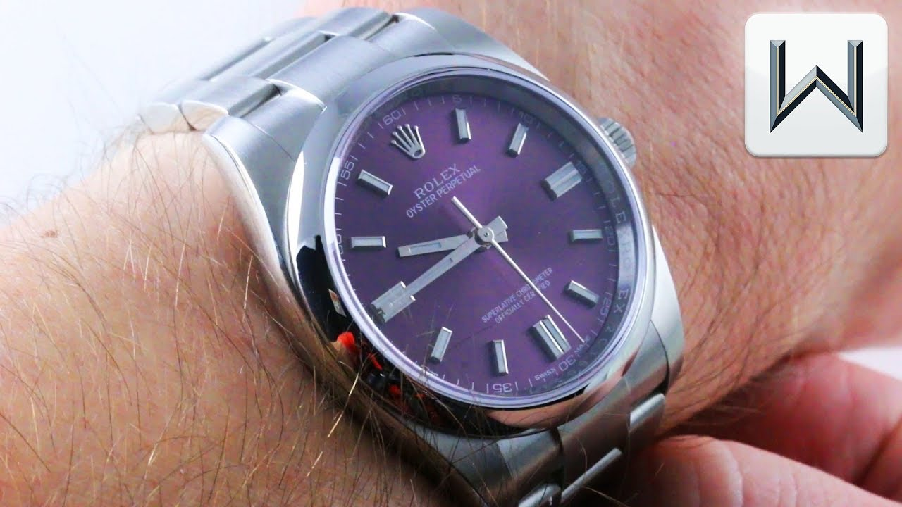 Rolex Oyster Perpetual Red Grape 36mm 116000 Luxury Watch Review