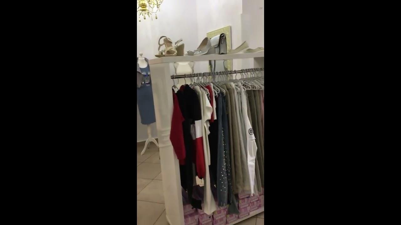 Modernistyczne Wyposażenie sklepu odzieżowego meble biały połysk - YouTube TZ88