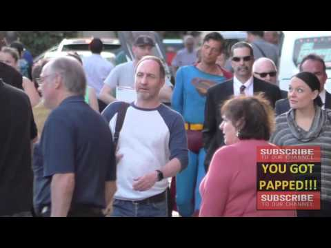 Michael McElhatton greets  outside Jimmy Kimmel Live in Hollywood