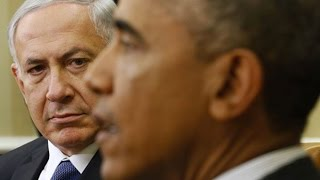 Obama and Netanyahu's frosty meeting. US President Barack Obama and Israeli Prime Minister Benjamin Netanyahu pressed each other politely but firmly., From YouTubeVideos