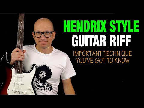 Hendrix Style Guitar Riff - You Must Know This