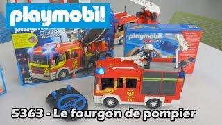 Playmobil 5363 (+6914) : le fourgon de pompier - Démo City action en français HD FR