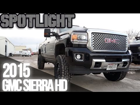 "Spotlight - 2015 GMC Sierra HD, 18x9's, 4.5"" BDS Lift, and ..."