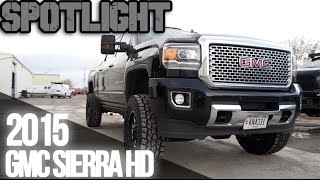 "Spotlight - 2015 GMC Sierra HD, 18x9's, 4.5"" BDS Lift, and 35's"