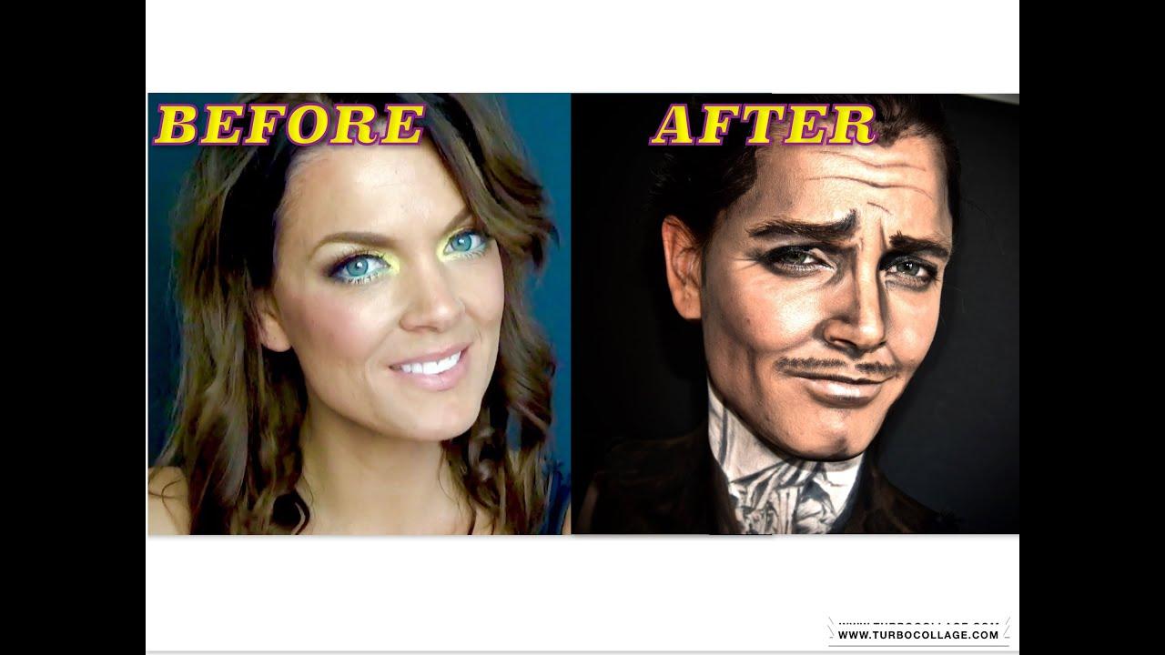 Rhett Butler Clark Gable Makeup Attempt