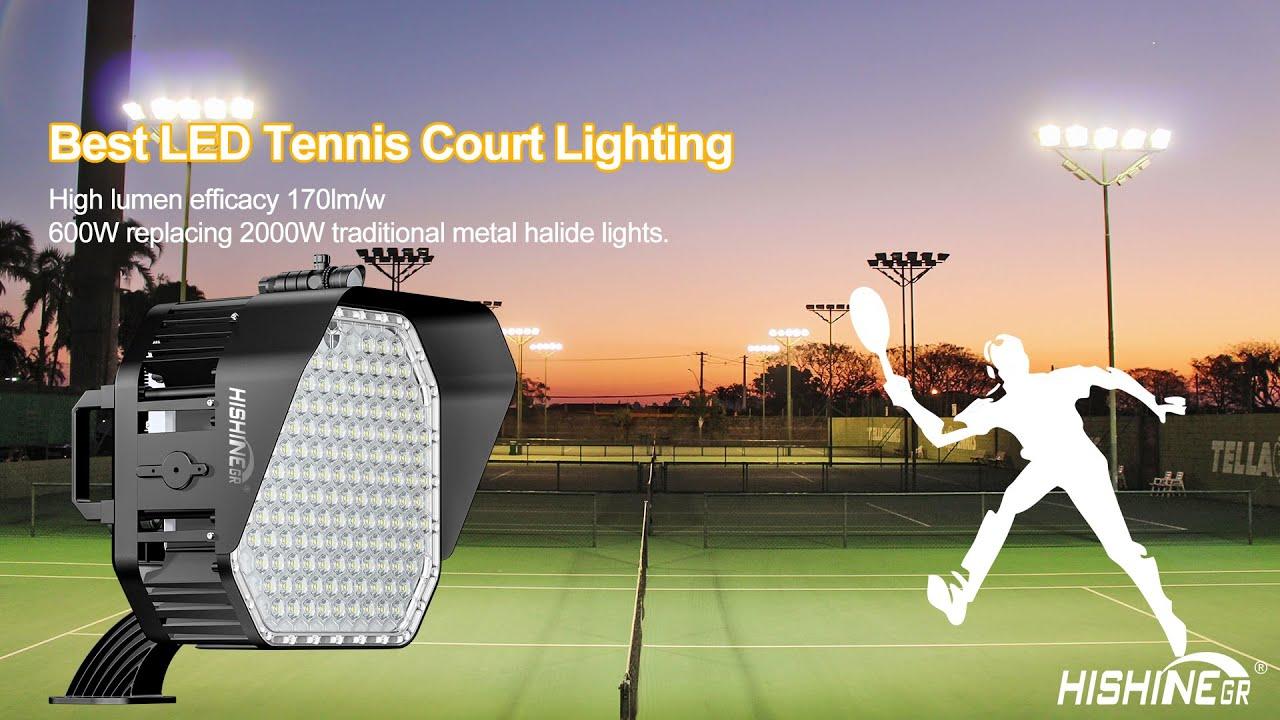 led tennis court light club tennis