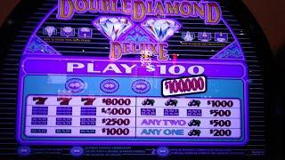 Mountaineer Racino $100 High Limit Old School Double Diamond Deluxe, $5 Double Diamond