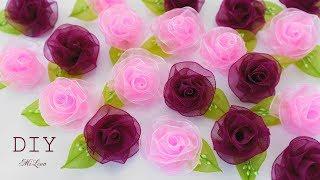 як зробити трояндочки з органзи