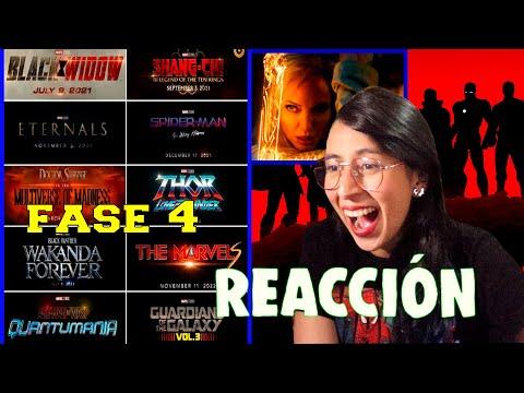 REACCIÓN ???? MARVEL STUDIOS CELEBRA LAS PELÍCULAS presenta sus futuros estrenos de la FASE 4
