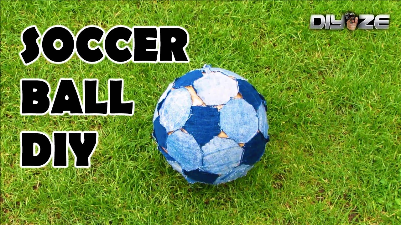 how to make a soccer ball football at home youtube