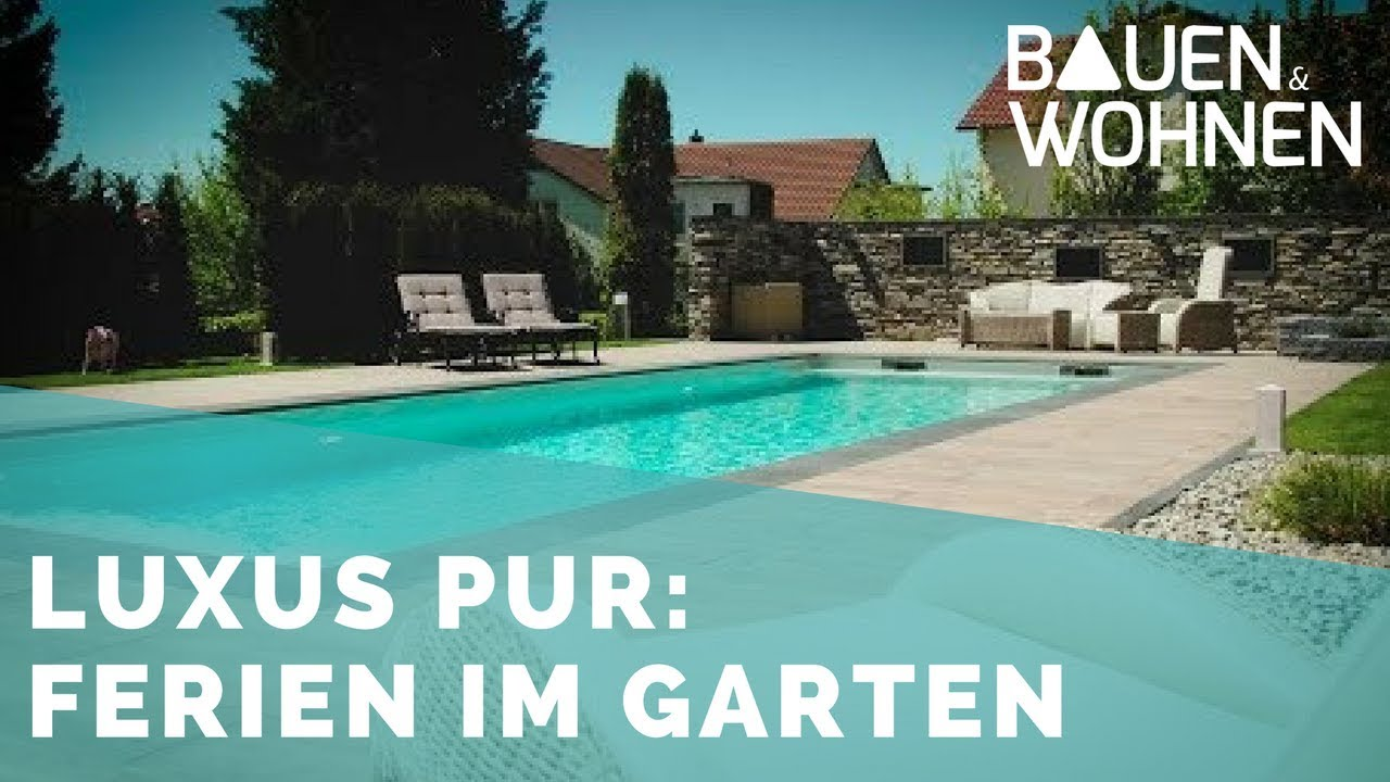 traum der swimming pool im eigenen garten youtube. Black Bedroom Furniture Sets. Home Design Ideas