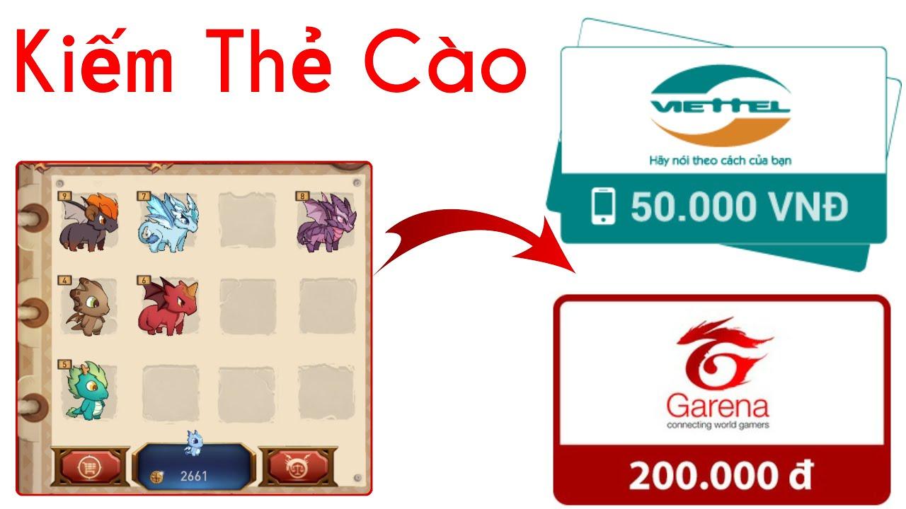 [Mới] Game Nuôi Thú Kiếm Thẻ Cào, Thẻ Garena Siêu Tốc | Kiếm Tiền Online 2020