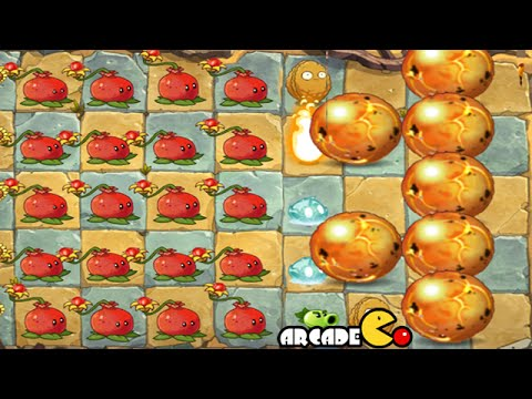 Plants Vs Zombies 2 Online - New Record Endless Wave Challenge Mode