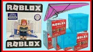 Roblox Toy Hang Glider & Blind Boxes, Series 3 Blue, Codes, Unboxing & Toy Review, Celebrity Gold