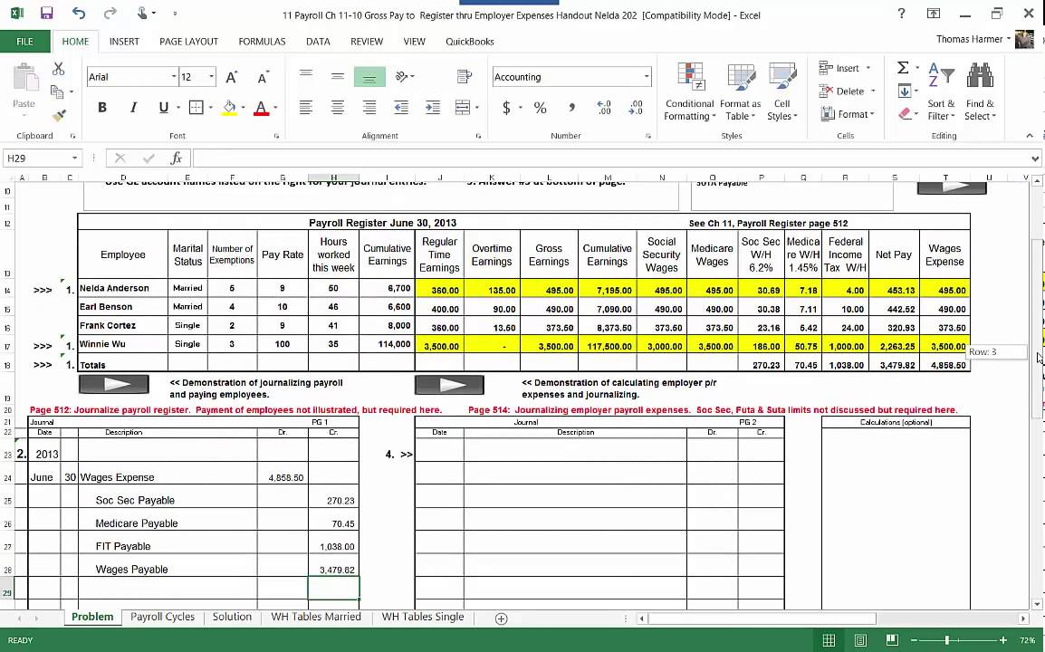 11 a journalizing the payroll register mp4 3min youtube
