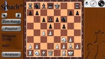 Schach gegen Computer #001.1 - Shredder (Spielstärke: 2248) [Teil: 1/10]