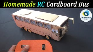 How to Make a Remote Control Bus At Home || Homemade RC Bus || DIY Cardboard Bus