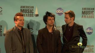 Green Day Backstage at American Music Awards