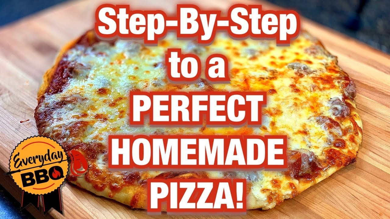 How To Make Homemade Pizza from SCRATCH  Full EASY Step-by-Step Recipe   Easy Pizza